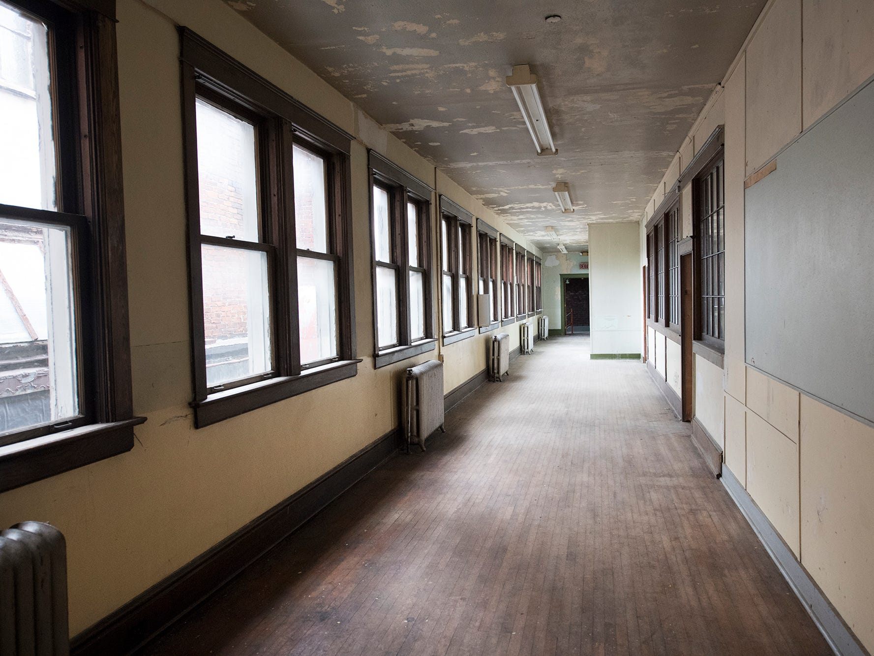 A hallway on the third floor of the  former Cobblestones building runs the length of the building  Wednesday January 9, 2019.