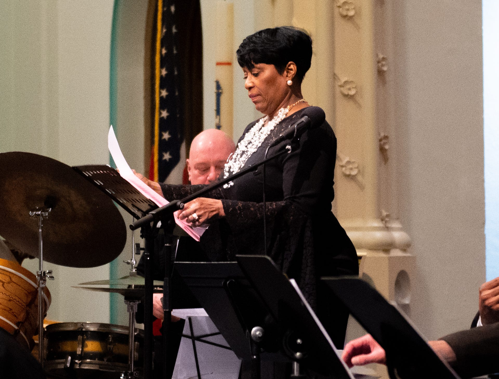 Vocalist Diane Wilson-Bedford provided a strong captivating voice, which harmonized with the instruments perfectly during the 21st annual Jazz Vespers concert at First Presbyterian Church in York, January 12, 2019.