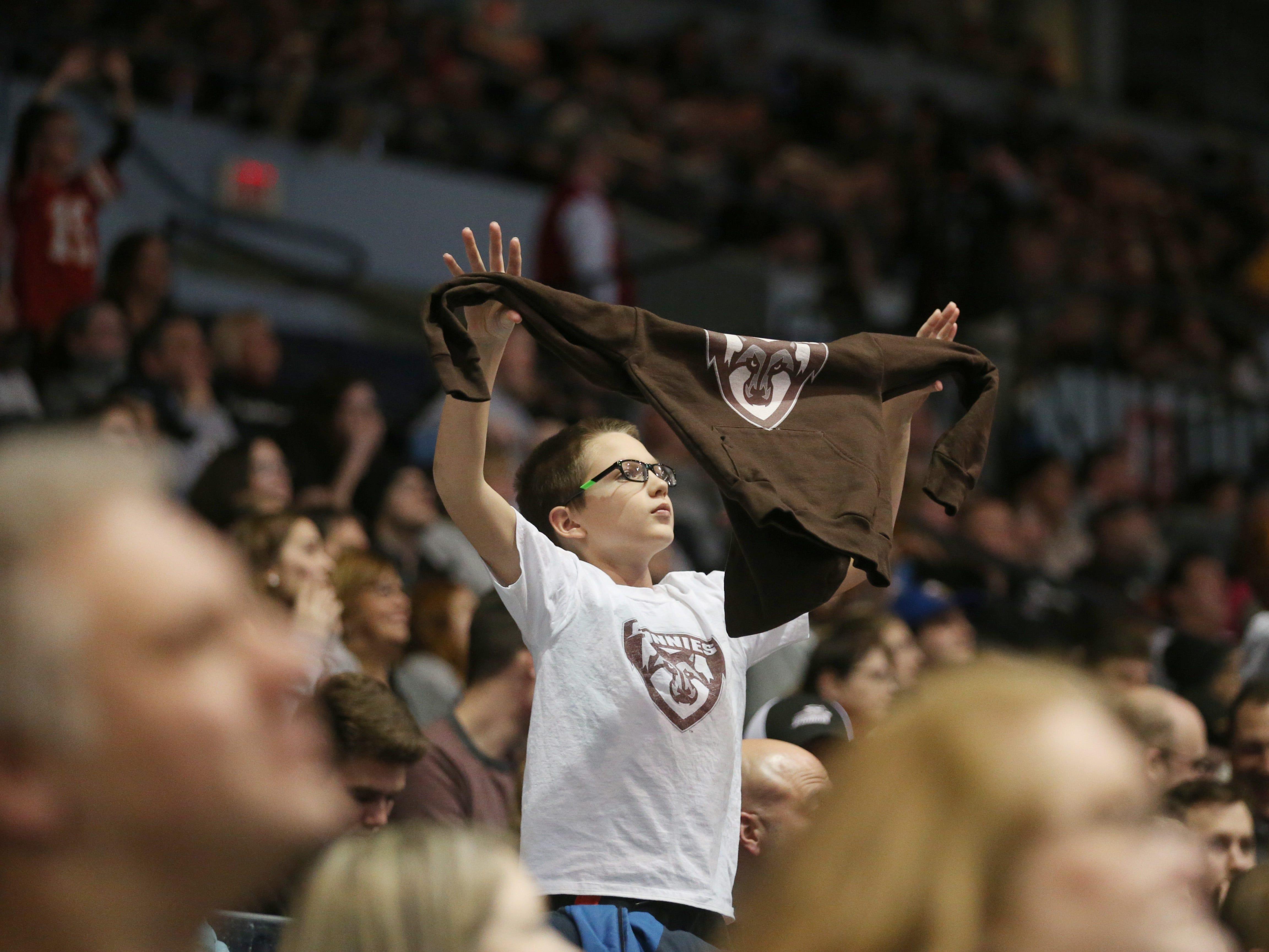 St. Bonaventure fans show their team spirit throughout the game.