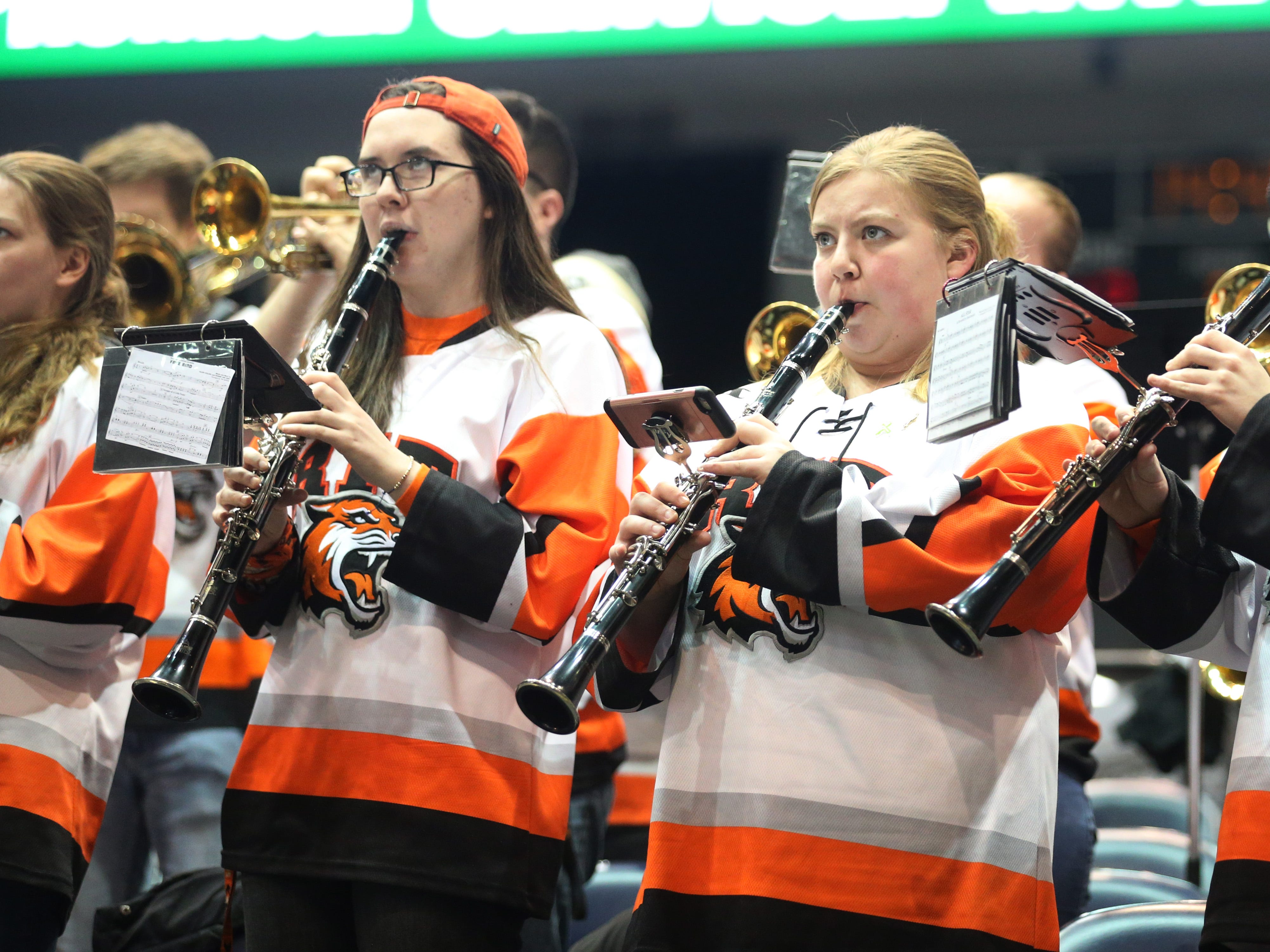 The RIT Pep Band performs in support of St. Bonaventure.