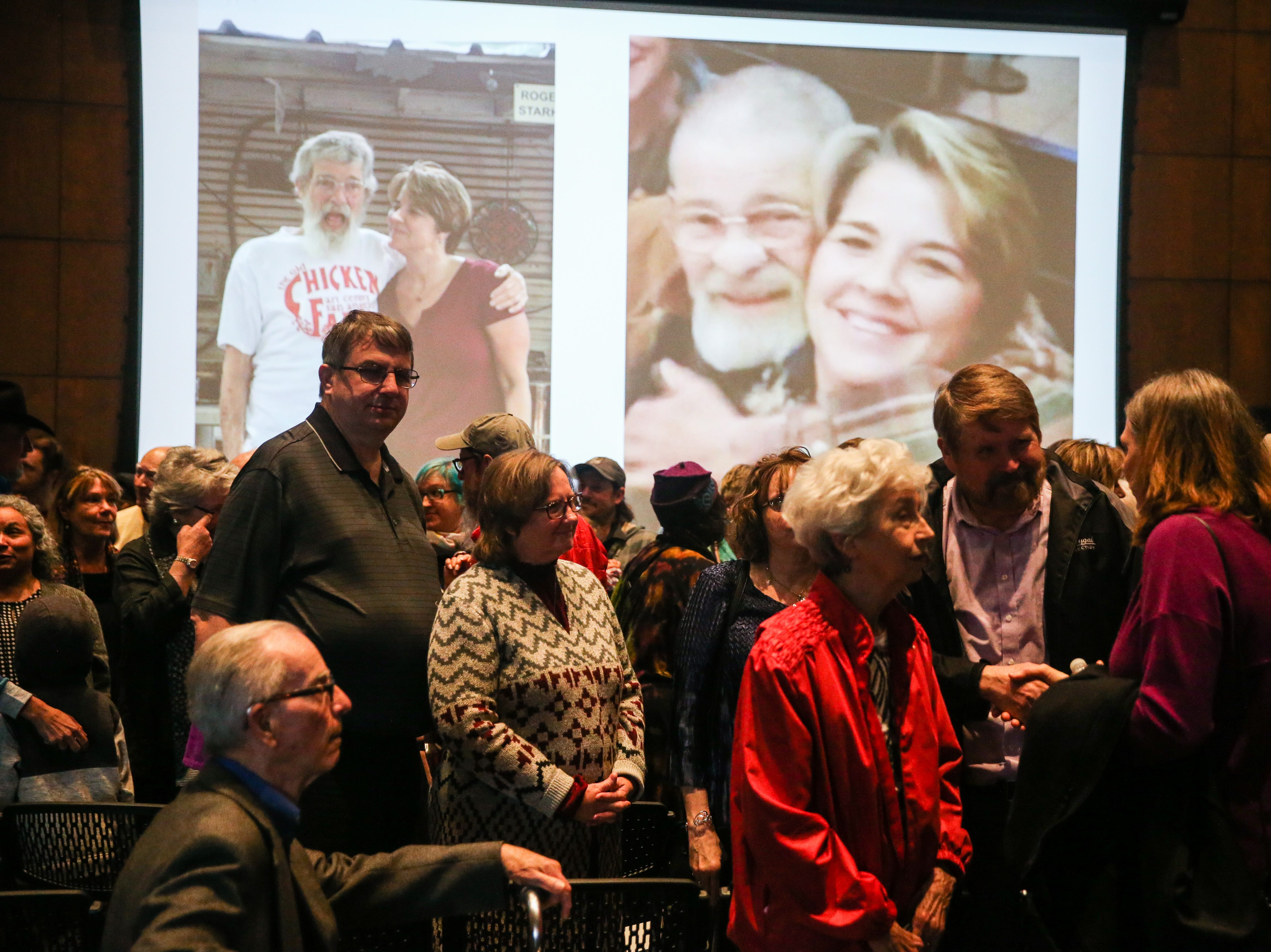 Attendees mingle at the Celebration of Spirit for Roger Allen Sunday, Jan. 13, 2019, at San Angelo Museum of Fine Arts.