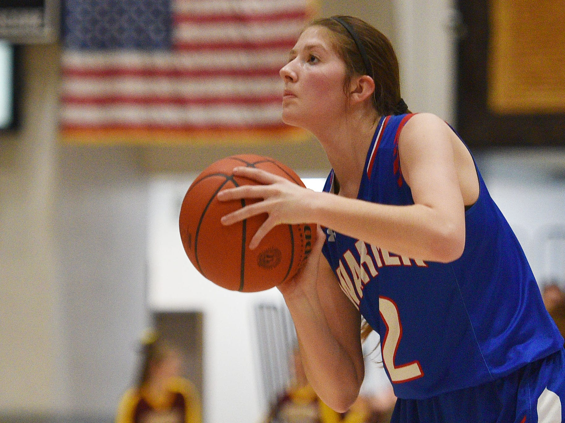 Warner's Laura Ochsner during the game against Ethan in the Hanson Girls Classic Saturday,  Jan. 12, in Mitchell.