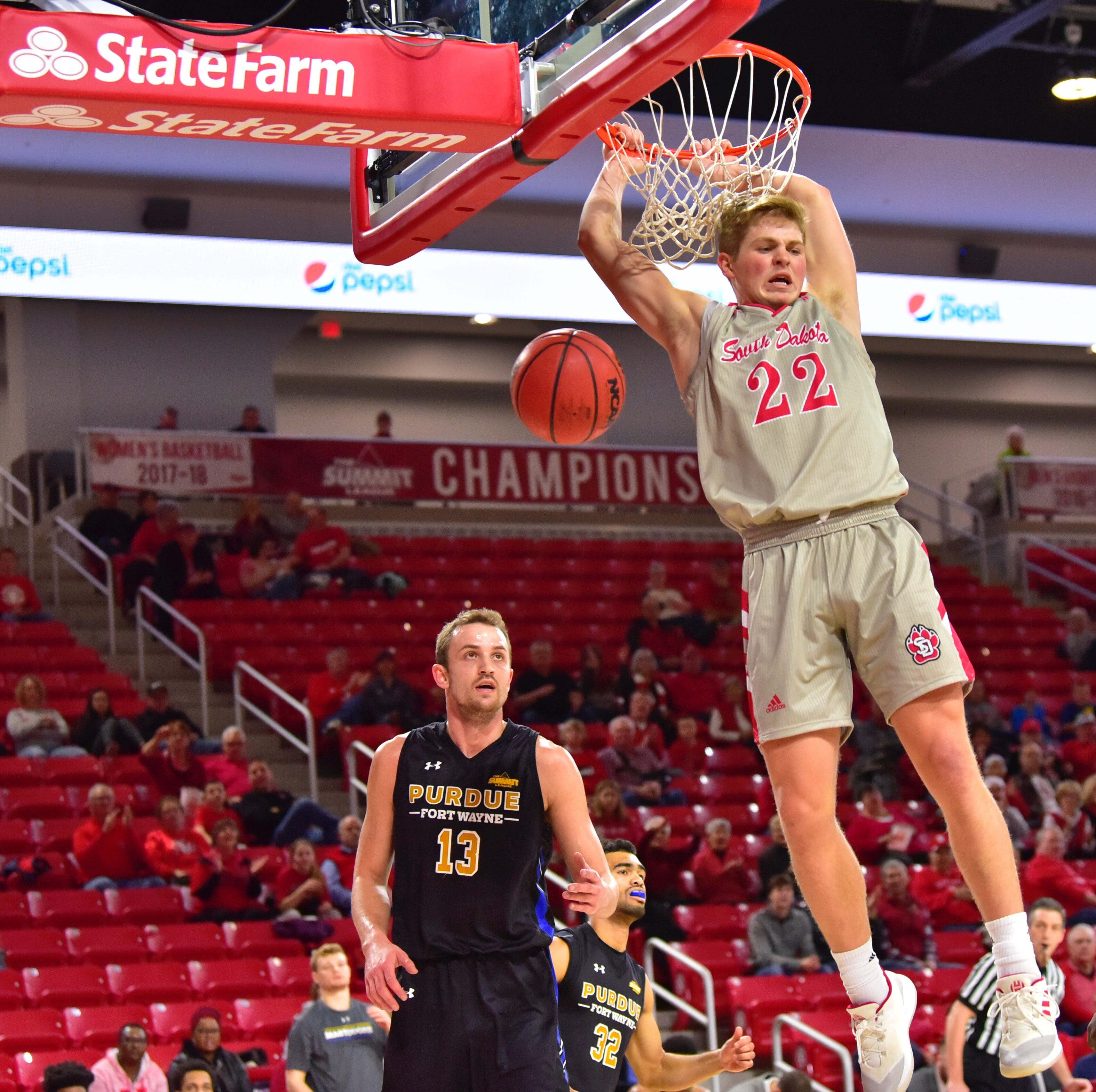 Short-handed South Dakota men surprise Purdue Fort Wayne