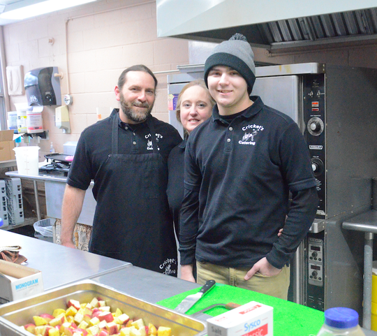 James (left), Kaaren and Lealand Randel own and operate Cricket's Catering in Dell Rapids.