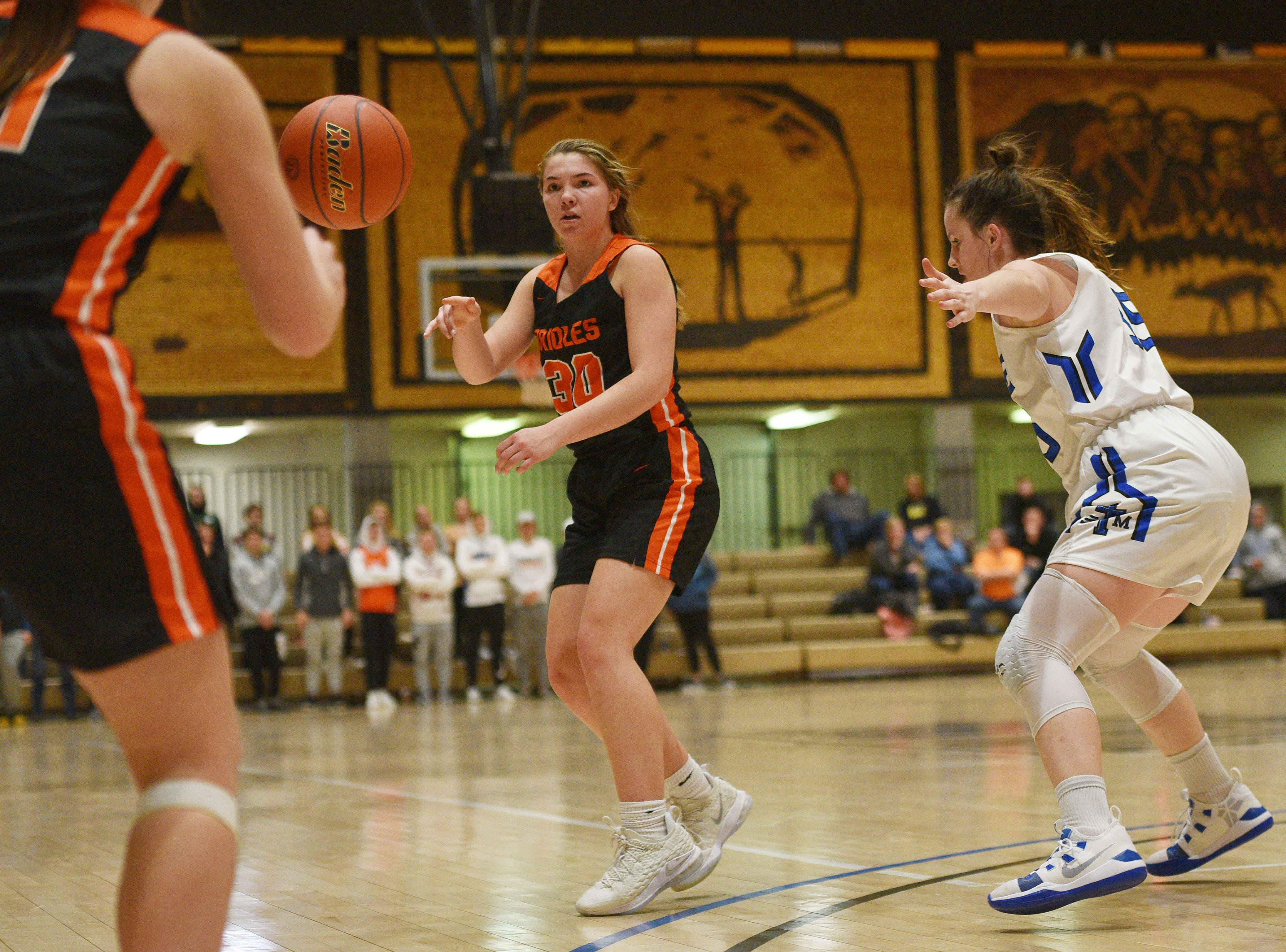 Lennox's Rianna Fillipi during the game against St. Thomas More in the Hanson Girls Classic Saturday,  Jan. 12, in Mitchell.