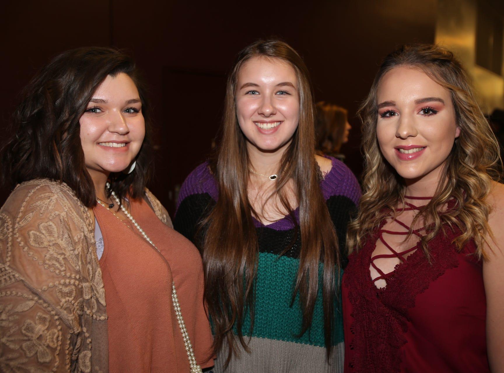 Kelina Coleman, Lolly Sheldon, and Baylee Watts