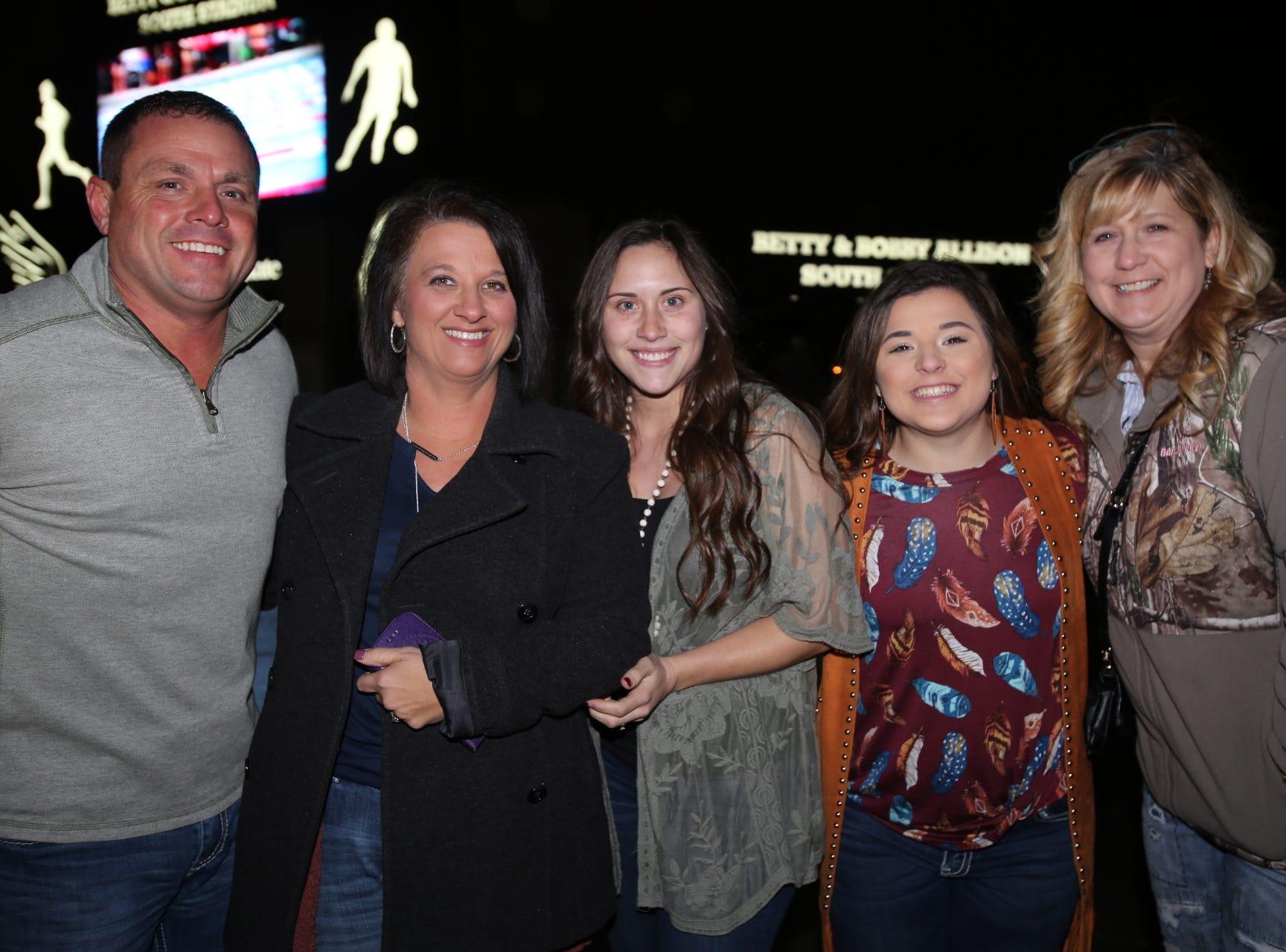 John, Tonya, and Chesney Claybrook, Taylor Mills, and Ronda Plaster