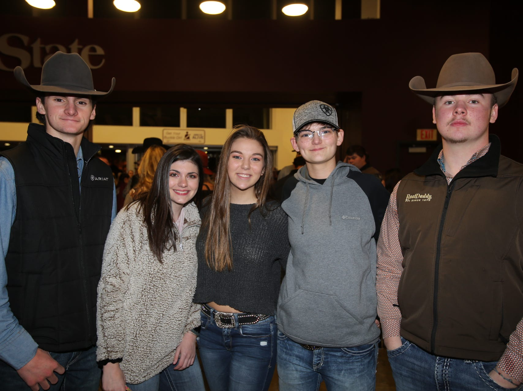 Brodie King, Tori Grinder, Shelby Jones, Skyler Lowery, and Sage Estes