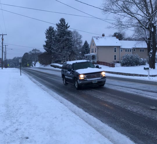 Traffic was light on North Coalter Street in Staunton early Sunday morning.