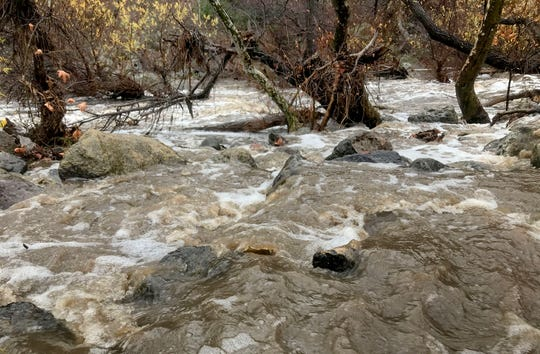 A storm brought lots of rain to Malibu Creek State Park on Saturday. More storms are on the way.