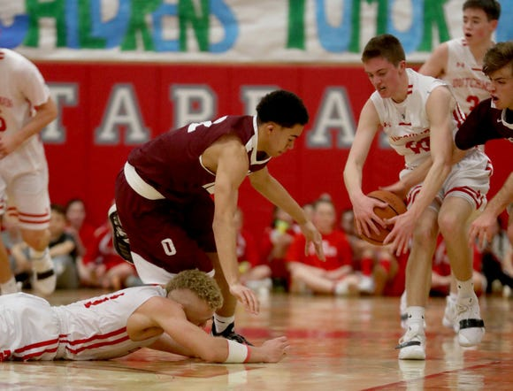 Tappan Zee battled Ossining during the Two Counties, One Cause basketball tournament at Tappan Zee High School Jan. 12, 2019.
