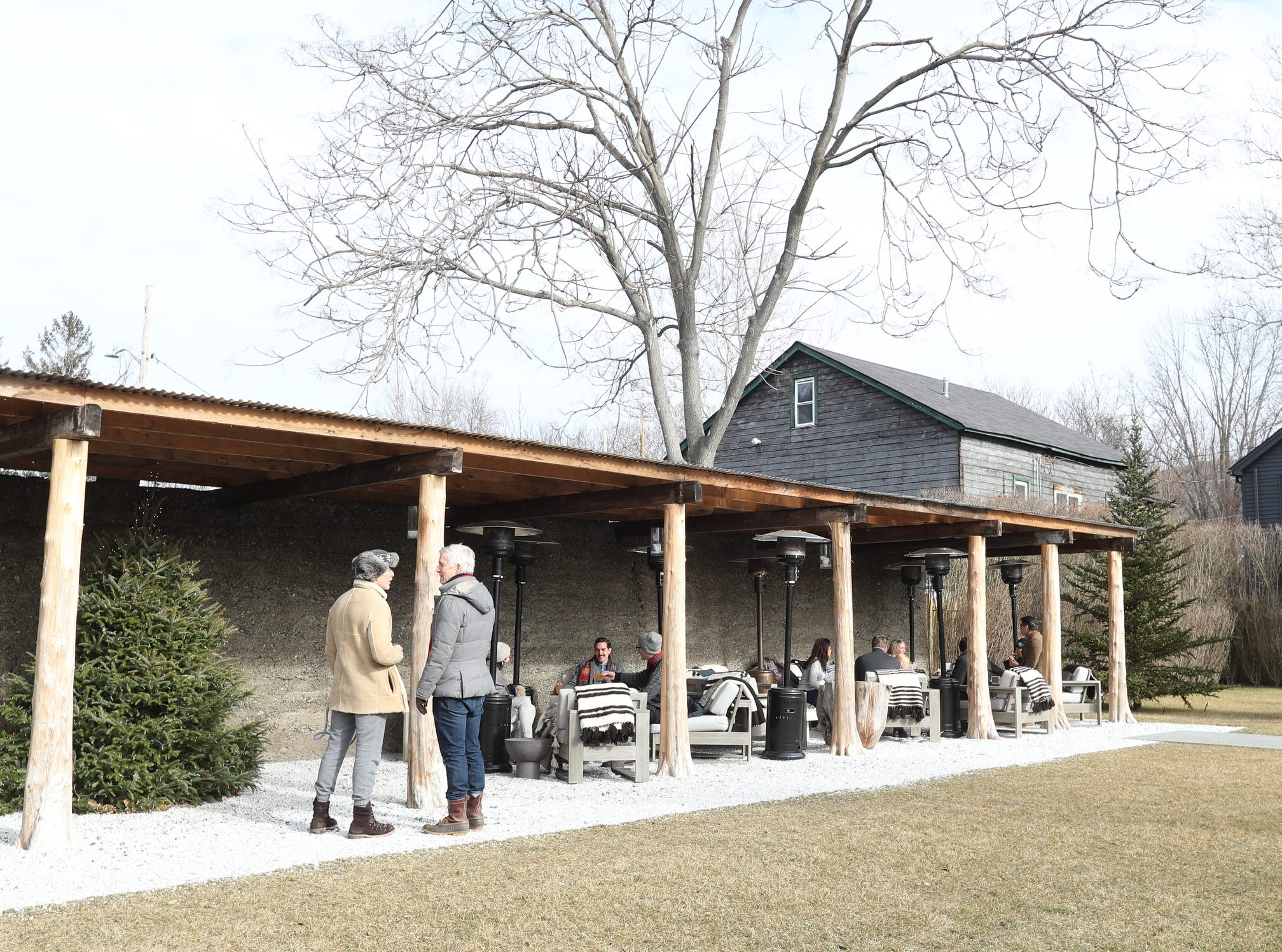 Guests enjoy sitting outside at the Valley Rock Inn & Mountain Club in Sloatsburg on Saturday, January 12, 2019.