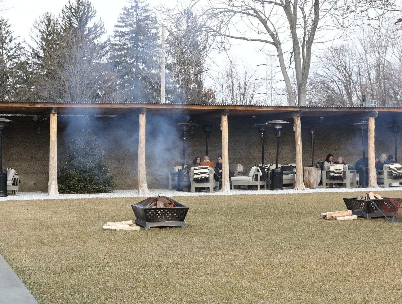 The outdoor seating area at the Valley Rock Inn & Mountain Club in Sloatsburg on Saturday, January 12, 2019.