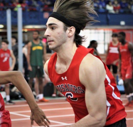 Stepinac's Chris Yarina starts 55-meter race at 2019 Stanner Games.