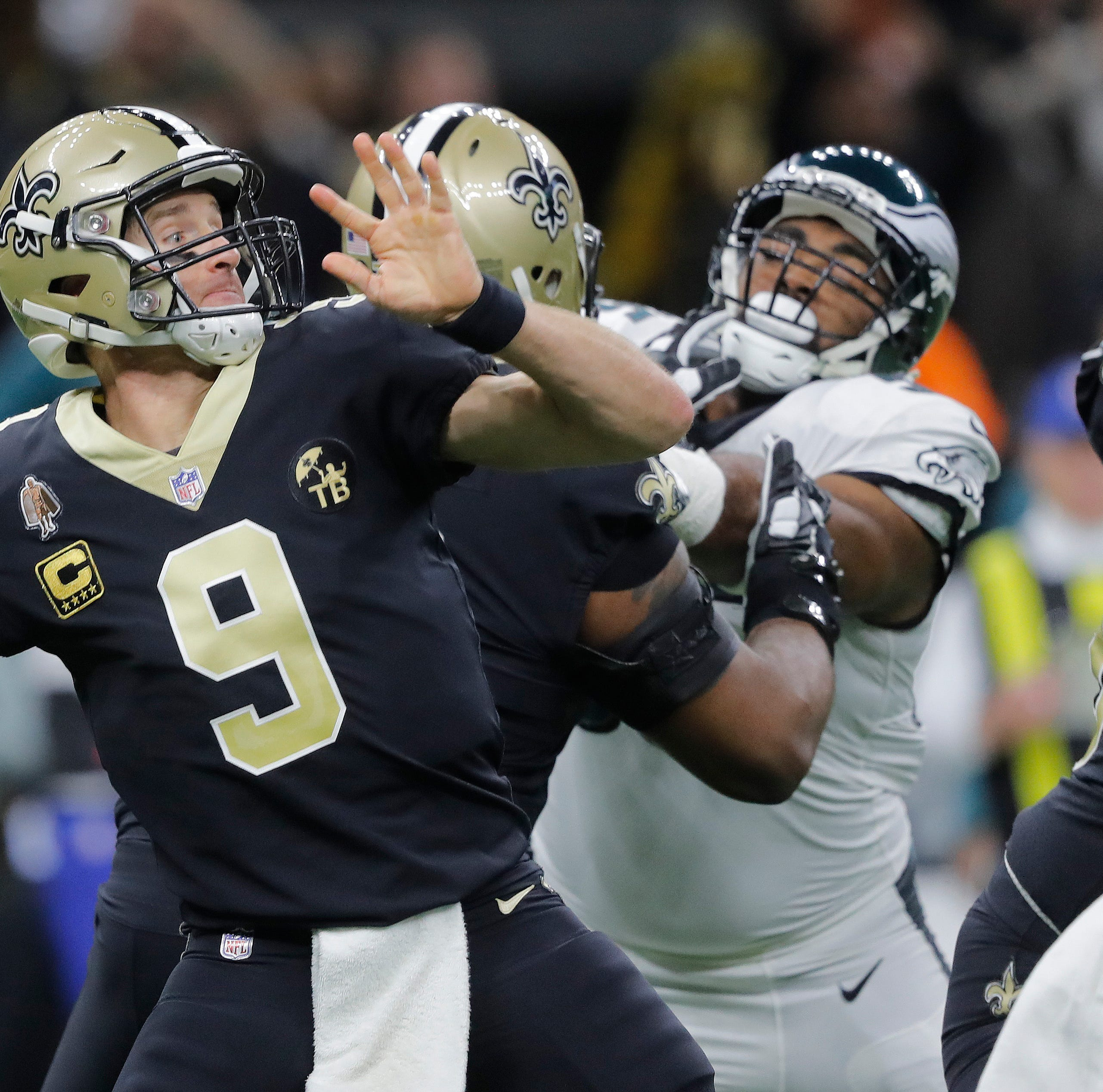 Eagles fly high, then south as Saints come back to win 20-14 and reach NFC title game