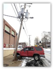 A vehicle crashed into a utility pole in the 1500 block of Banning Street in Wilmington just before 4 p.m., closing the road and leaving St. Elizabeth's School without power. Repairs were expected to take several hours.