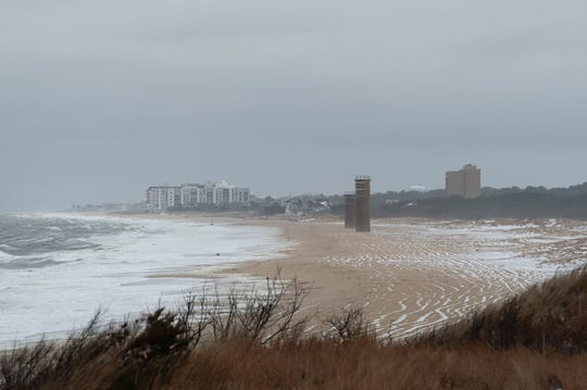 View of Rehoboth Beach from Herring Point at Cape Henlopen State Park in Lewes.