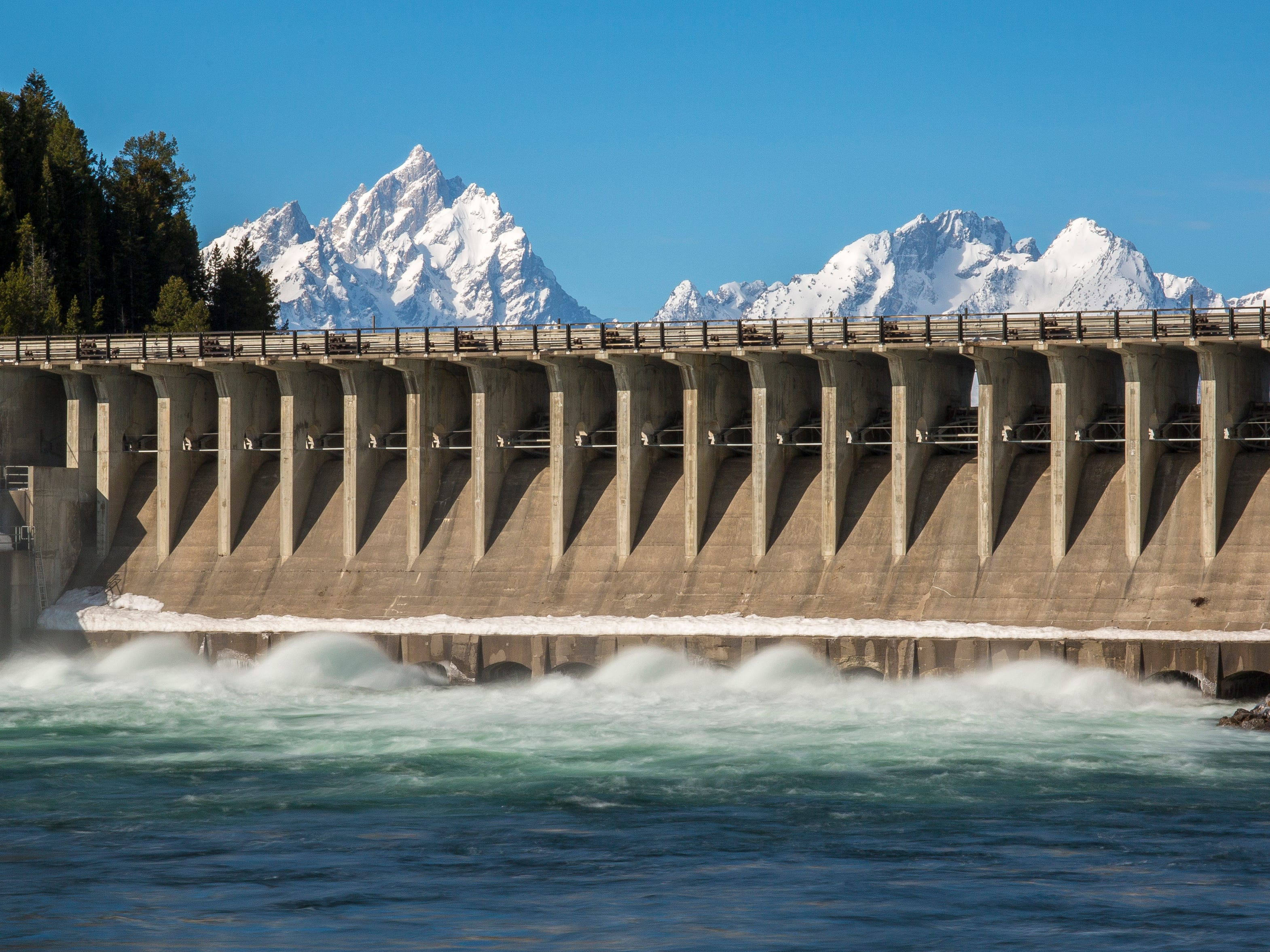 Jackson Lake Dam in Wyoming.