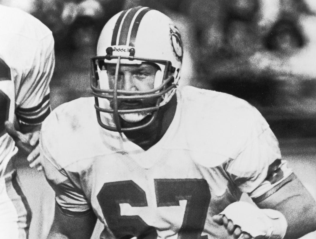 Bob Kuechenberg, football, 1947-2019