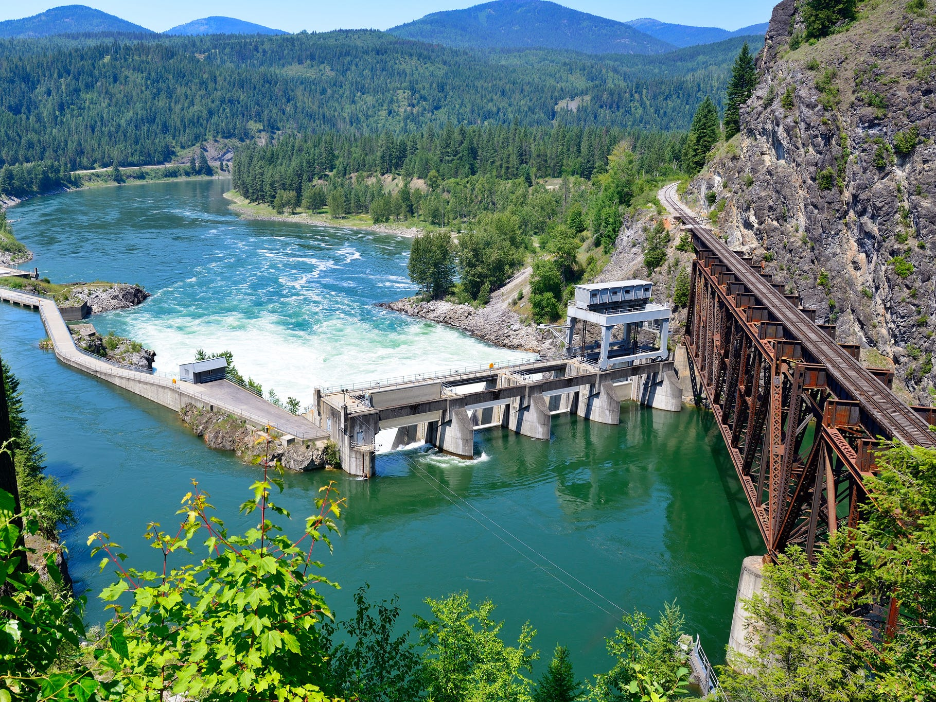 Box Canyon Dam in Washington.