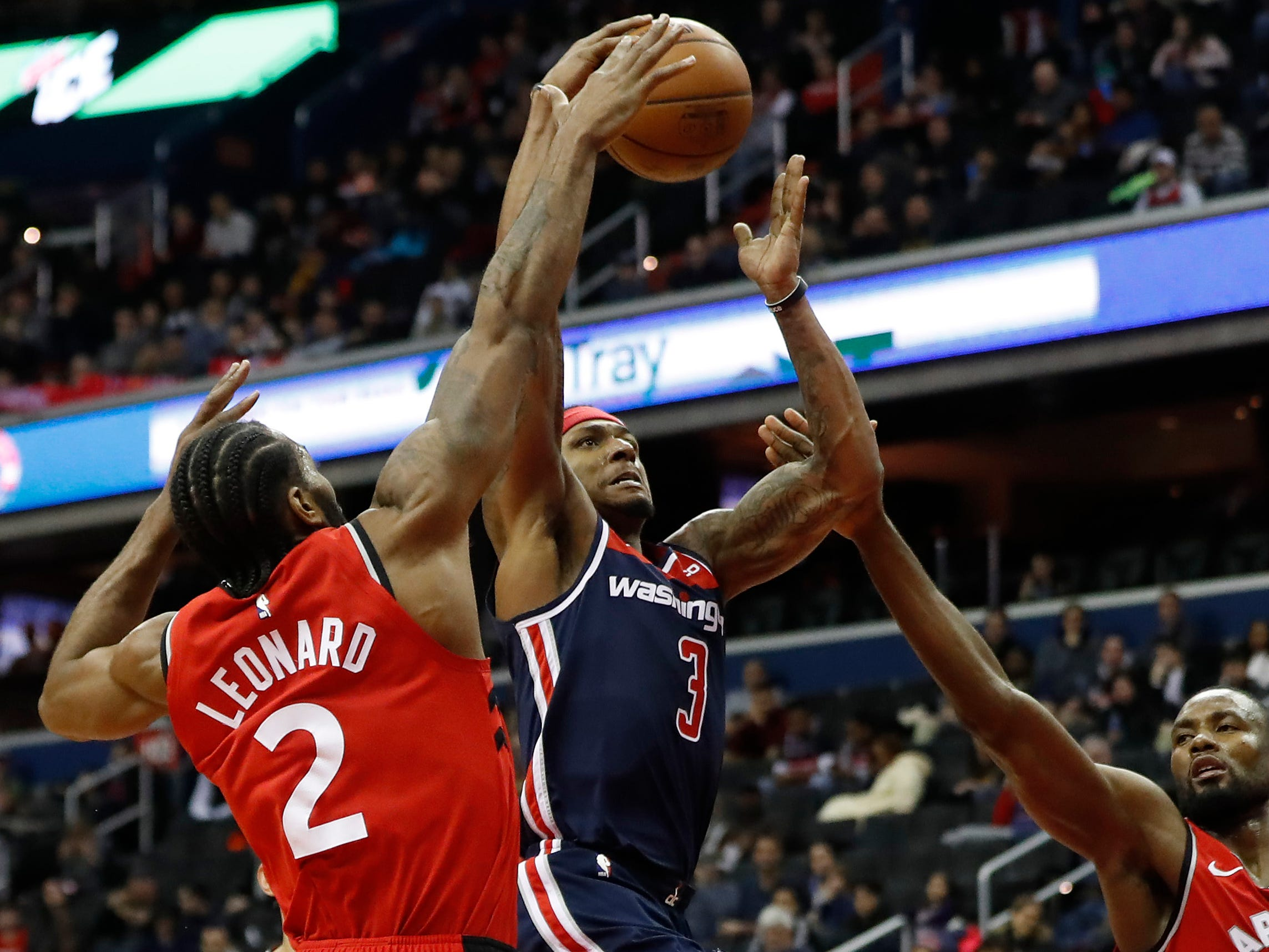 53. Bradley Beal, Wizards (Jan. 13): 43 points, 15 assists, 10 rebounds in 140-138 loss to Raptors (second of season).