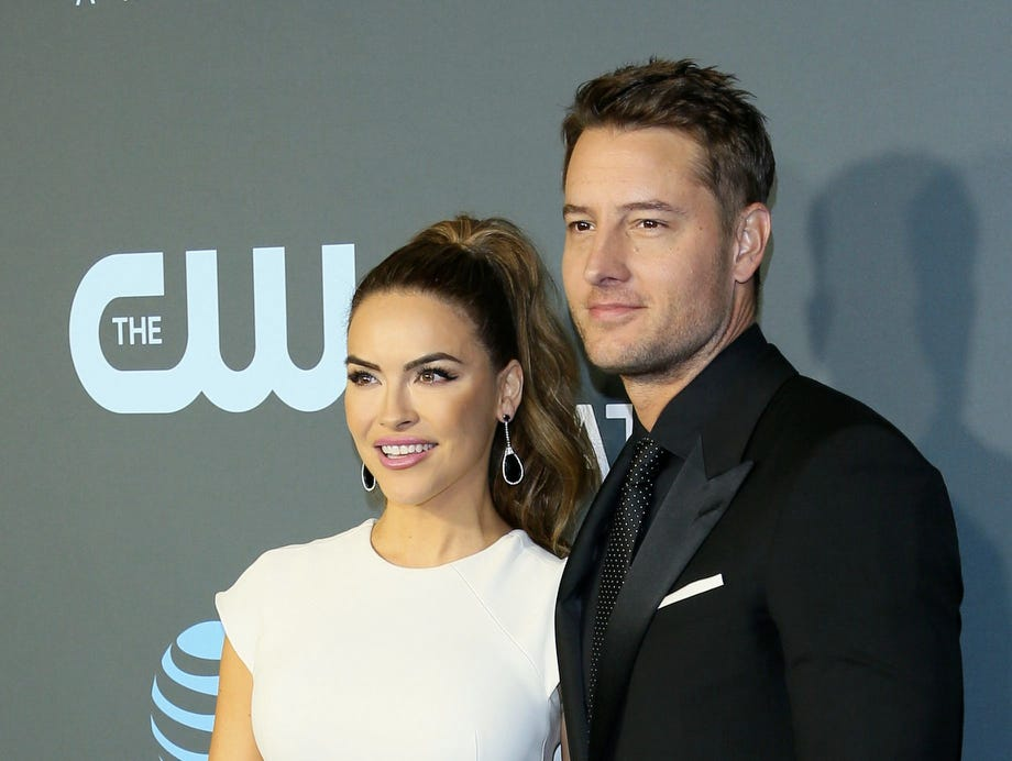Justin Hartley and his wife Chrishell Hartley