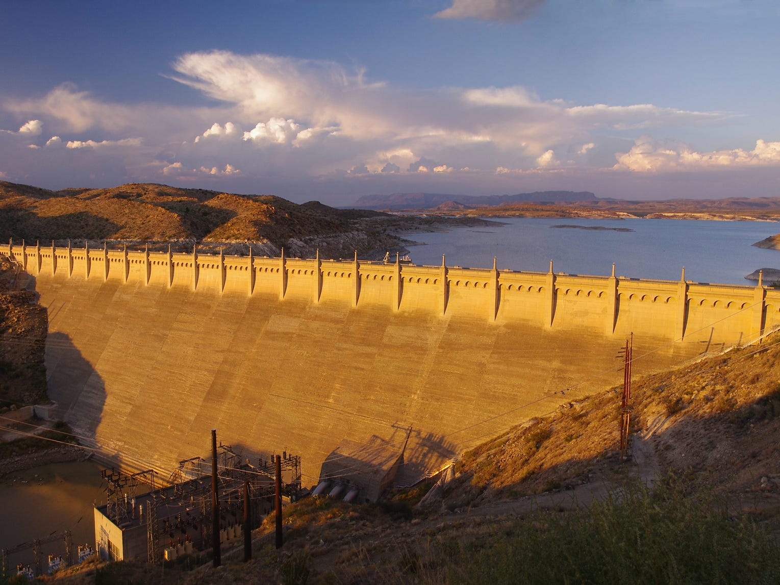Elephant Butte Dam in New Mexico.