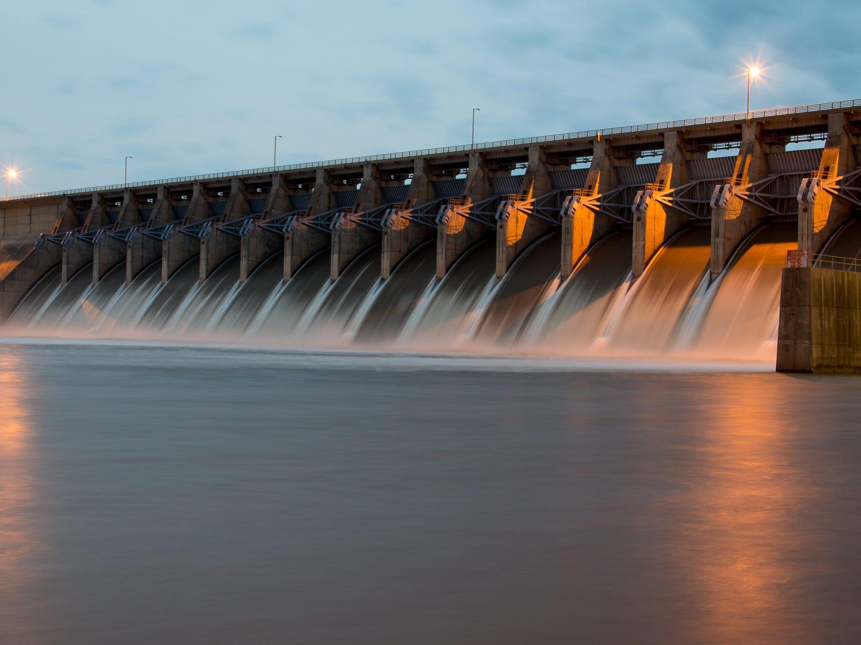 Keystone Dam in Oklahoma.