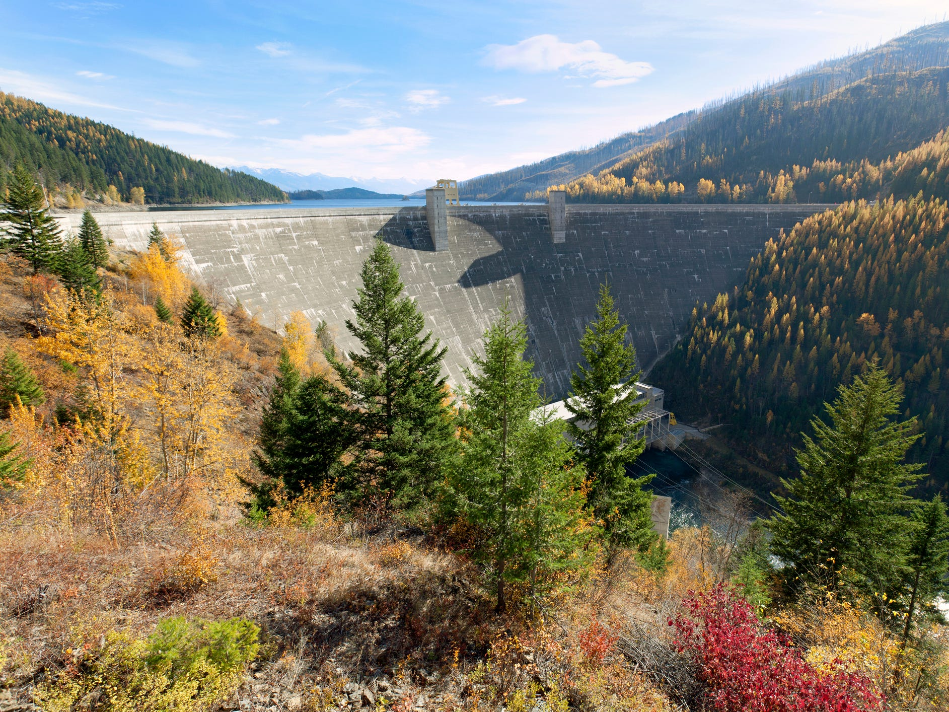 Hungry Horse Dam in Montana.