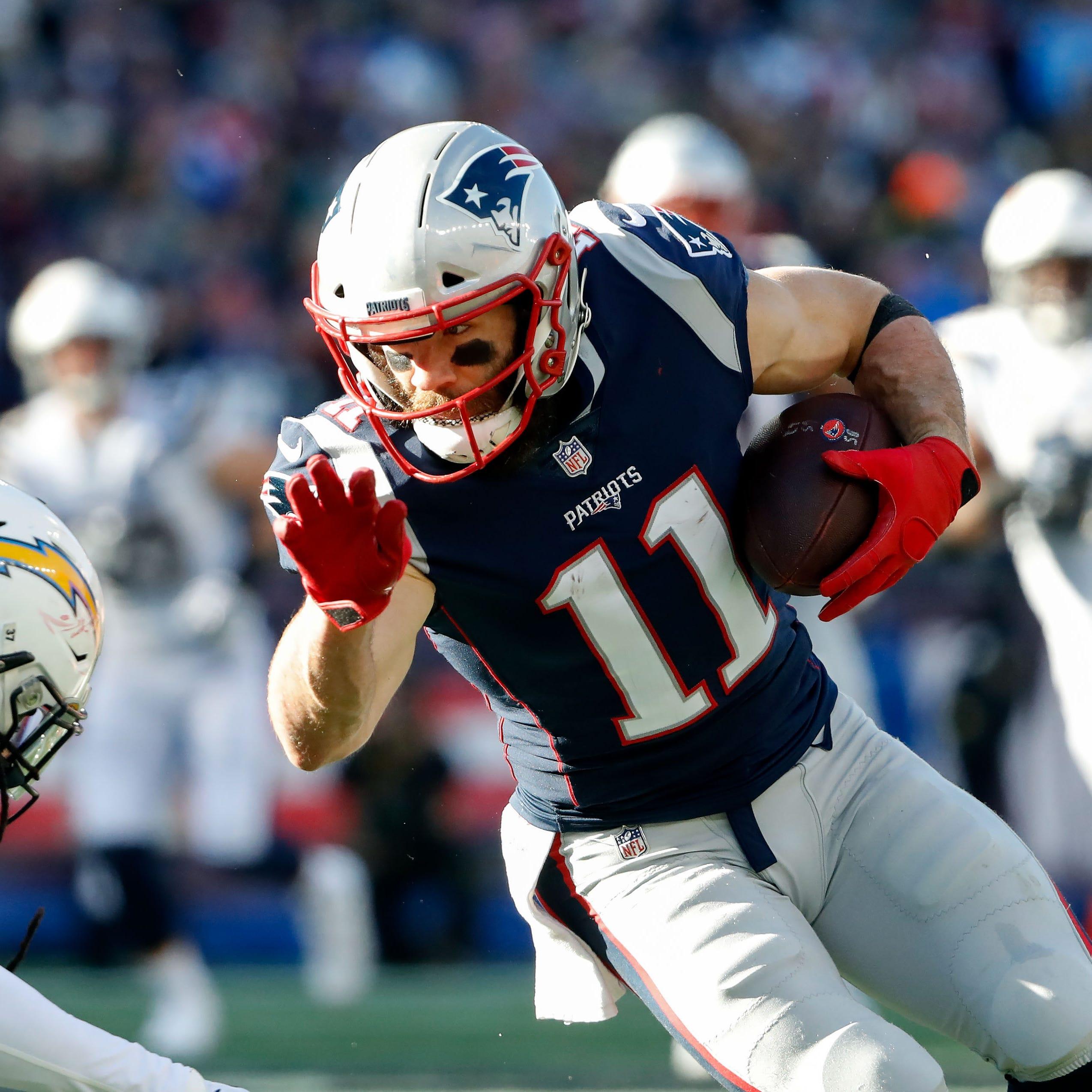 New England Patriots wide receiver Julian Edelman...