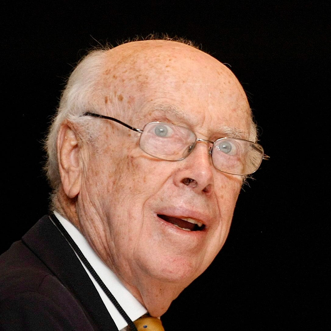 "James Watson, founder of the DNA structure and 1962 Physiology and Medicine Nobel Prize winner, talks  during his conference called ""Mi vida inmersa en el ADN,"" or ""My life immerse on the DNA,"" at the beginning of the X International Medicine advances Congress, in Guadalajara, Mexico, on 21 February 2008."