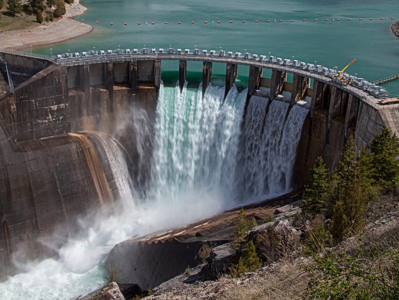 Kerr Dam in Montana.