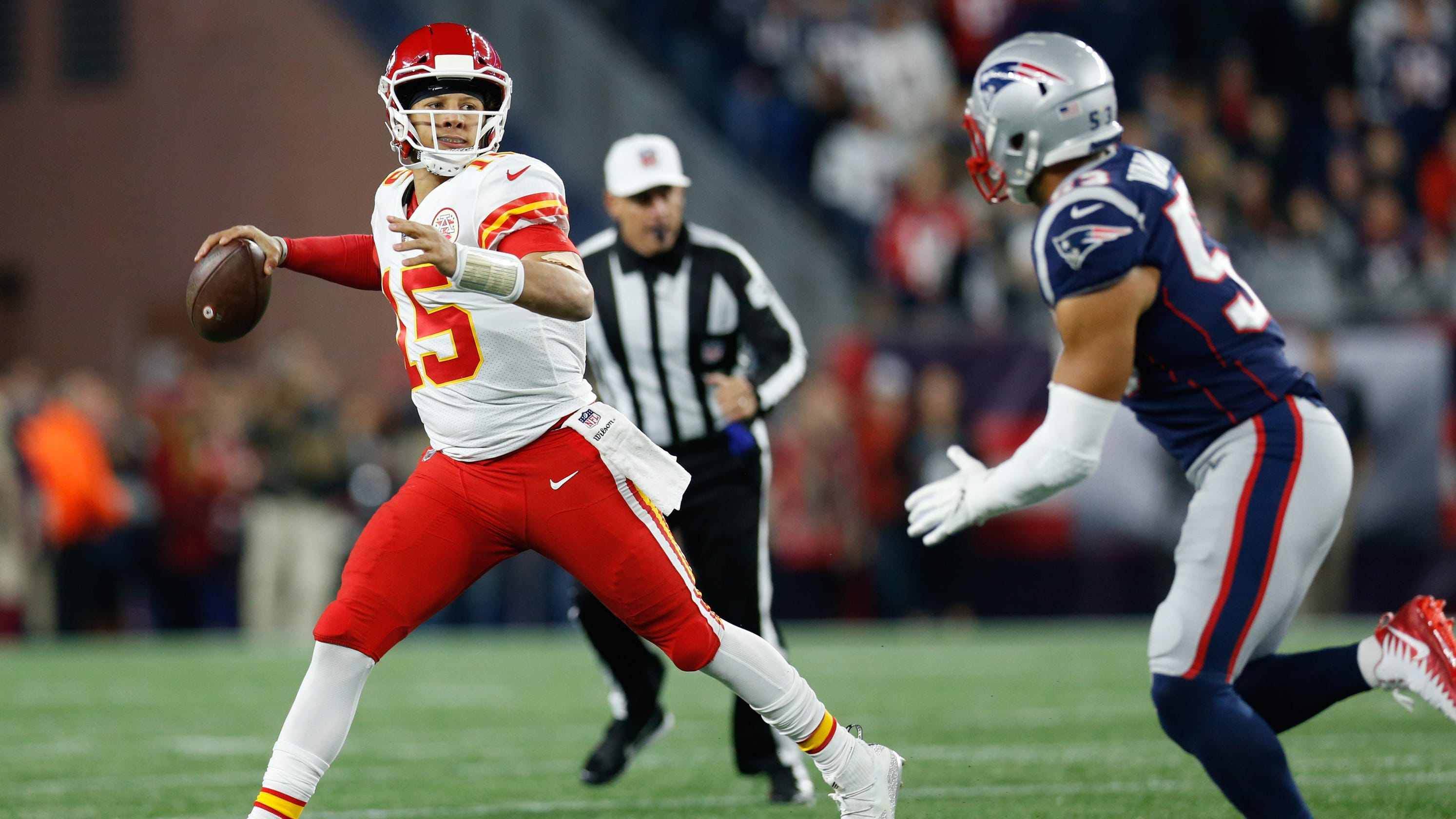 a378877f3e2 Patriots at Chiefs AFC Championship Game preview  Can Patrick Mahomes  outduel Tom Brady in rematch