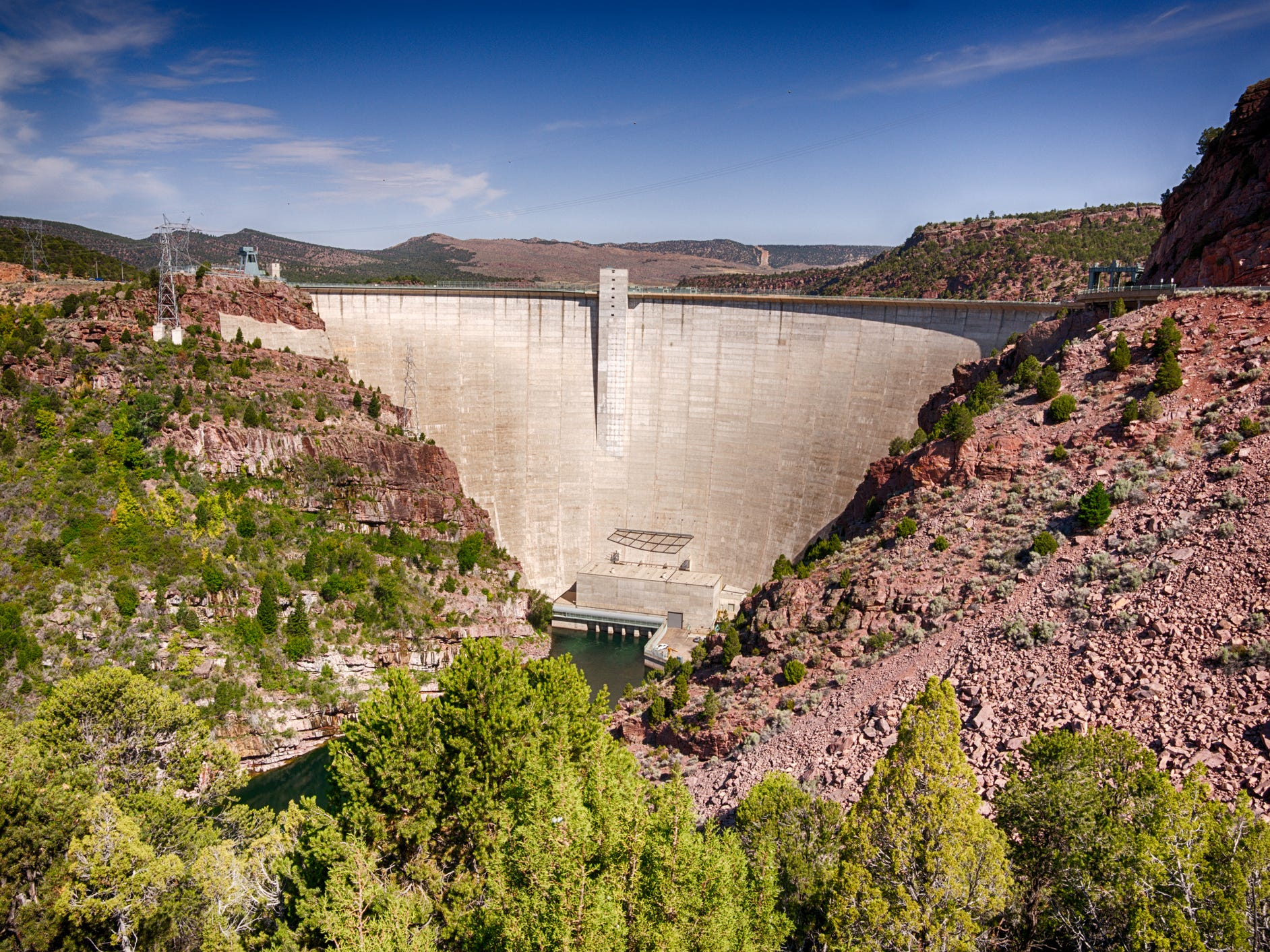 Flaming Gorge Dam in Utah.