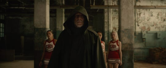 "David Dunn (Bruce Willis) is Philadelphia's heroic ""Overseer"" who saves a bunch of cheerleaders in ""Glass."""