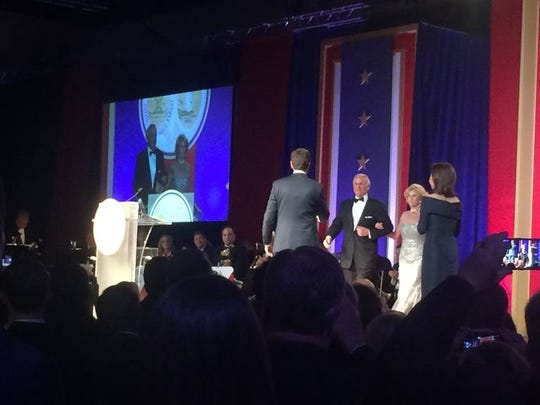 S.C. Gov. Henry McMaster and First Lady Peggy McMaster greet attendees at the S.C. Inaugural Ball Wednesday, Jan. 9, 2019, at the Columbia Metropolitan Convention Center.