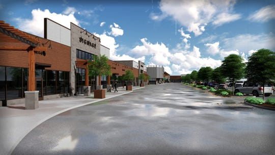 Artist's illustration of the renovated Shopko Plaza's future look in Menasha.