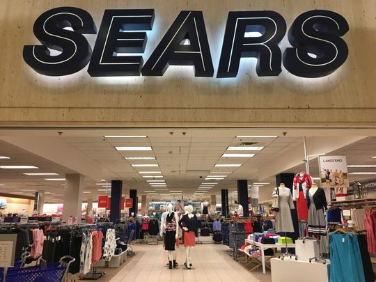 Lands' End merchandise is at Sears' main mall entrance in the Fox River Mall.