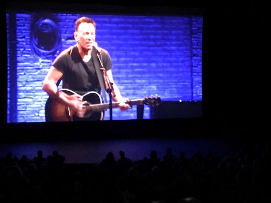 'Springsteen on Broadway' at the Pollak Theatre at Monmouth University in West Long Branch on Sunday, Jan. 13, 2019.