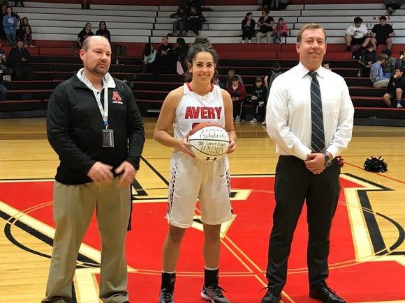 Avery County's Hannah McIntosh made her 500th career assist last week against Polk County