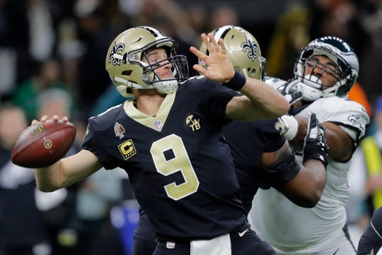 Drew Brees and the Saints got a fight from the Eagles, but prevailed at home to advance to the NFC Championship Game.