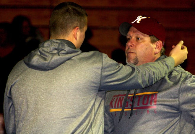 Kingston wrestling coach Casey Nelson is rebuilding the Buccaneers' program after only two wrestlers competed for the Buccaneers during the 2017-18 season.