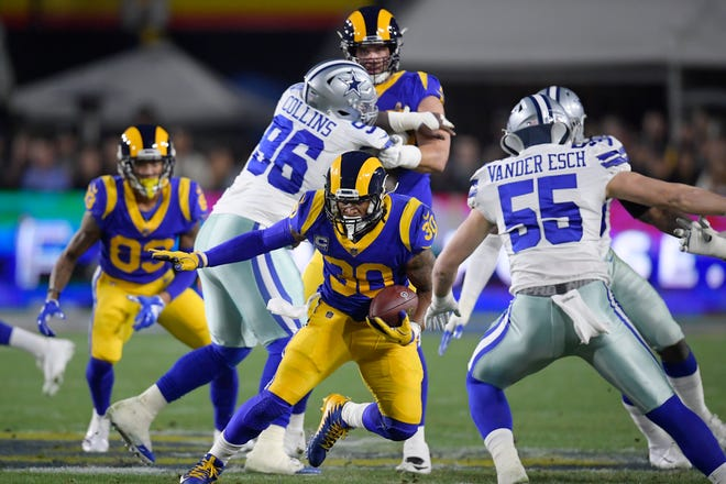 Todd Gurley and the Los Angeles Rams ran all over a Cowboys defense that shut down the Seahawks' rushing attack a week earlier.
