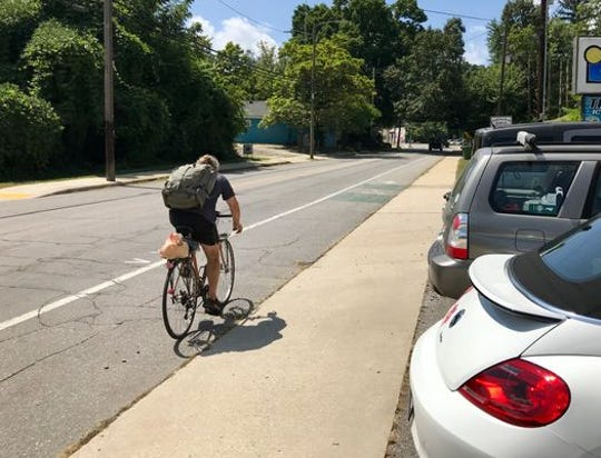 Cyclists do utilize Asheville's bike lanes, although advocates say they would get more usage if the system were better connected and more extensive.