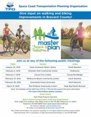 The Space Coast Transportation Planning Organization is updating its Bicycle and Pedestrian Master Plan