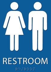 Inclusive restroom sign.