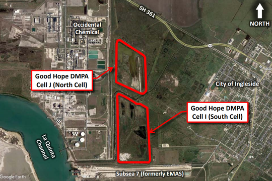 The city of Ingleside has asked the Port of Corpus Christi to follow the seeking of permits and rezoning for a port project designed to increase the capacity for dredge material placement between State Highway 361 and the La Quinta Channel.