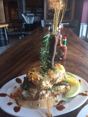 Andy's Sage Fried Chicken Benedict at Hash House a Go Go in Moorestown Mall.