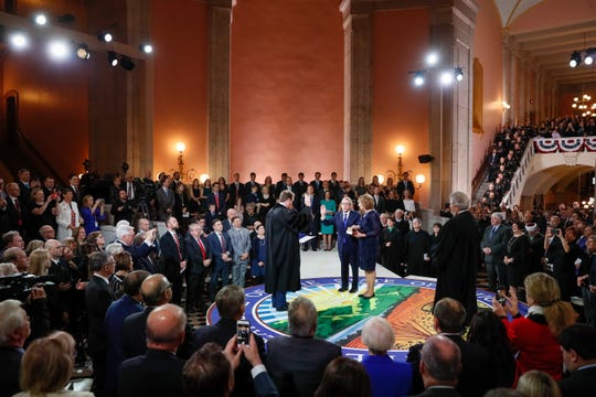 Ohio Gov. Mike DeWine will give his first State of the State address on Tuesday. DeWine took the oath of office at the Ohio Statehouse on Jan. 14.