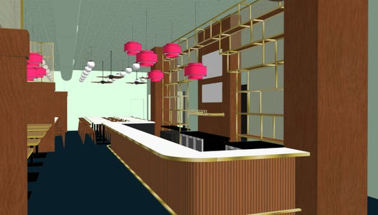 A rendering of the new Pho Lang Thang Vietnamese restaurant on Race Street